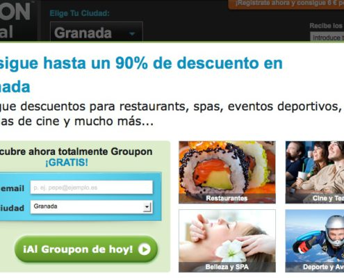 Aniversario de Groupon en España. Consigue 1200 € en crédito durante un año