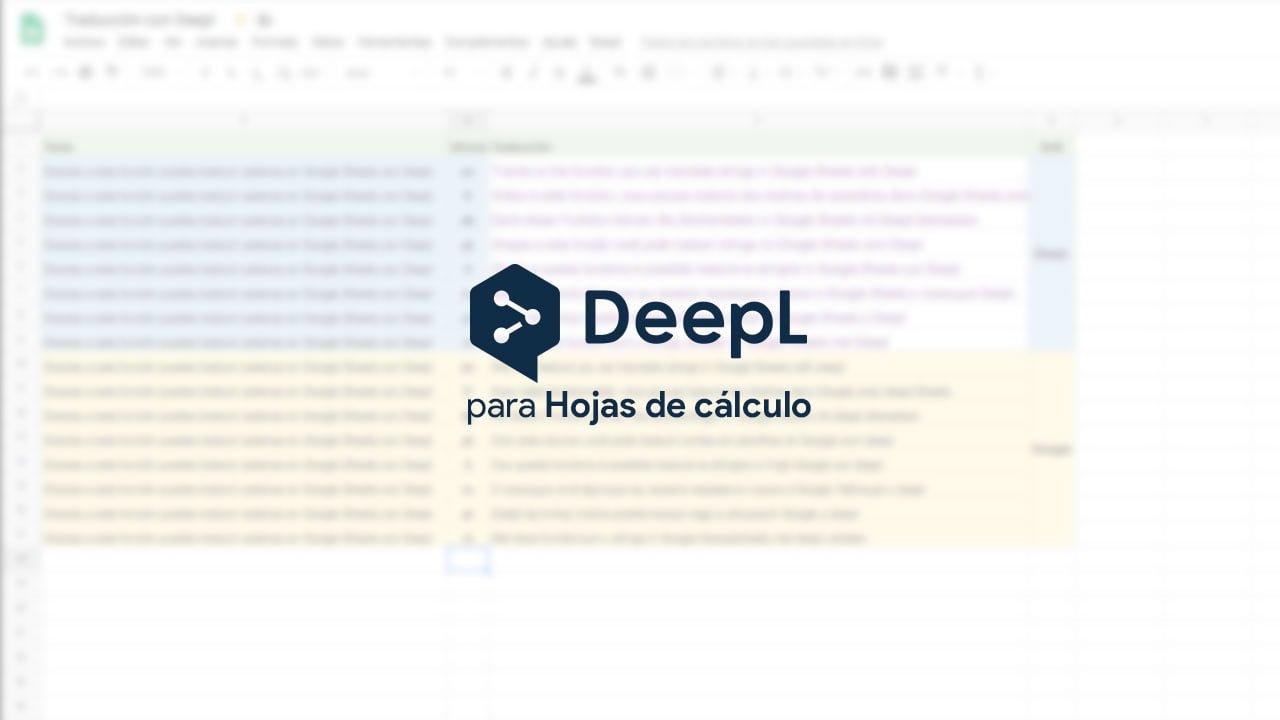 deepL para Google Hojas de cálculo