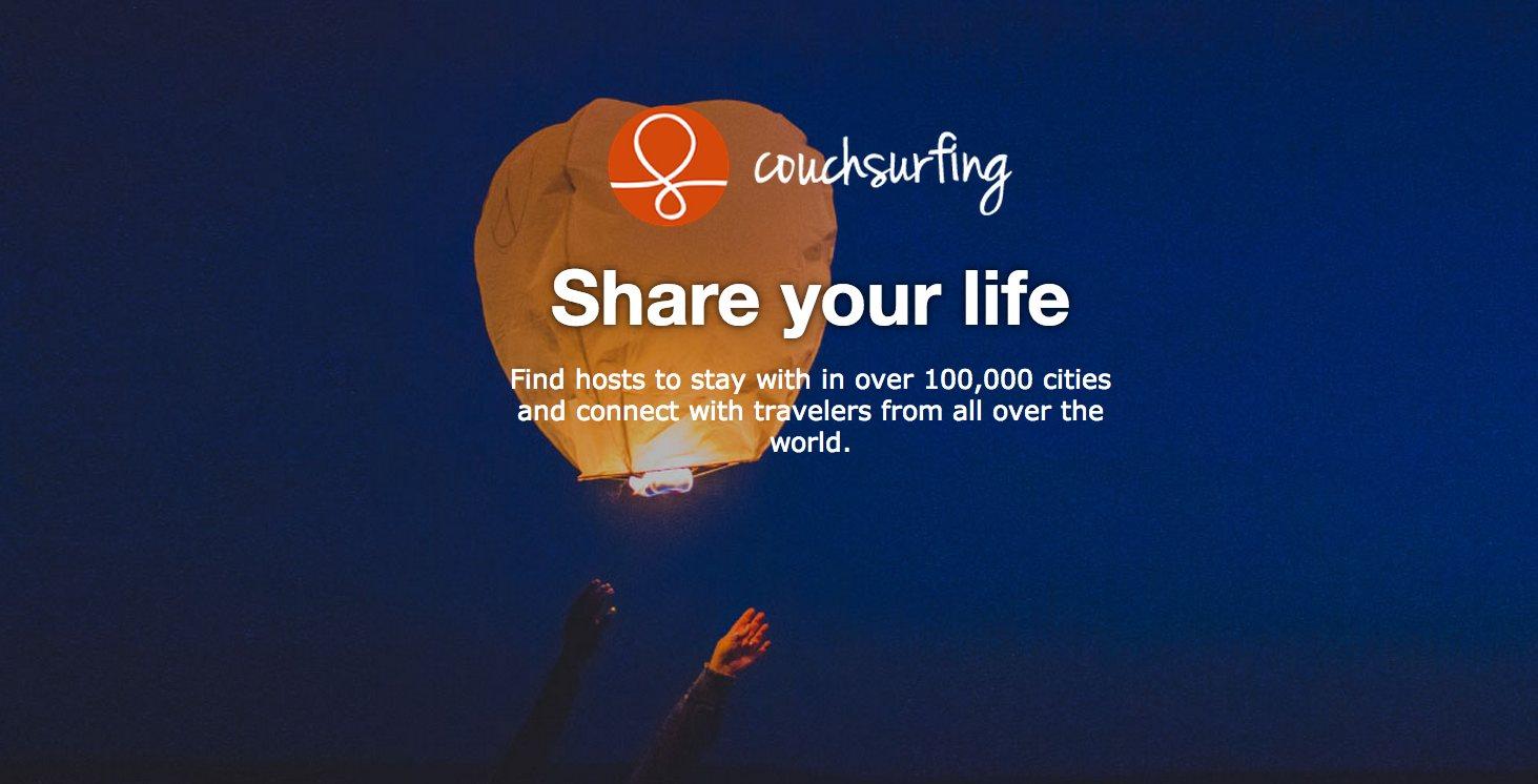 ¿Qué es Couchsurfing?