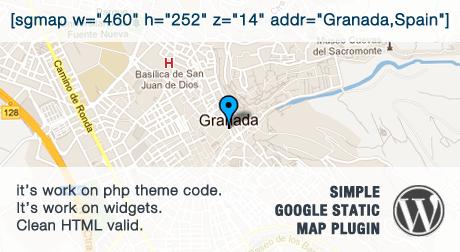Simple Google Static Map Plugin for WordPress